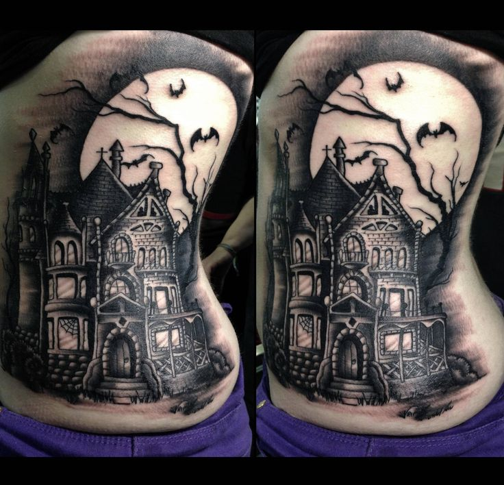 14 creepy cool haunted house tattoos inkedd tatoo for Famous tattoos fort myers