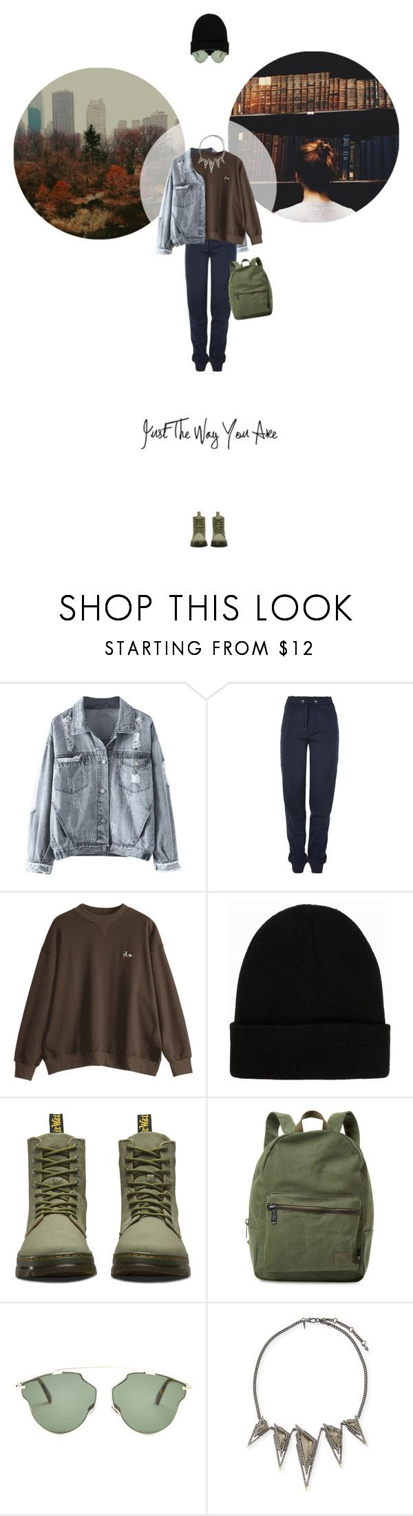 // 1330. Just The Way You Are. by lilymcenvy on Polyvore featuring Tommy Hilfiger, Dr. Martens, Herschel Supply Co., Alexis Bittar, Christian Dior and NLY Accessories