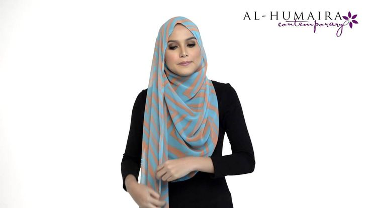 LANAA shawl styling tutorial by Al-Humaira Contemporary I love how this covers the front and back.