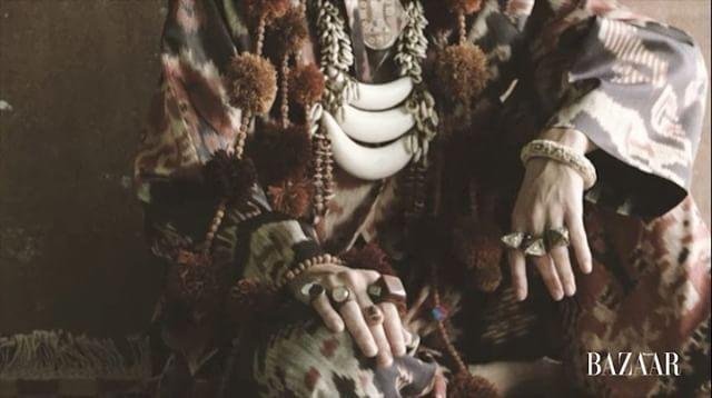 """""""The Story of Folklore"""" kemasan folk dihadirkan dalam pernak pernik etnik kain tradisional dan elemen mewah bersama sentuhan palet warna alam simak pemotretan fashion spread ini di Harper's Bazaar Indonesia edisi September 2017 oleh: Editor Fashion: Michael Pondaag Fotografer: Saeffie Adjie Badass Videografer: Krisnaji Iswandani Makeup: Project Lima Hair: Arnold Dominggus Stylist Assistant: Michelle Othman Retoucher: Reno Priyono Model: Irina (Wynn Models) & Anna Kibik (Merry Models)…"""