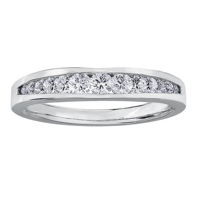 Buy White Gold Diamond Band Online In Canada