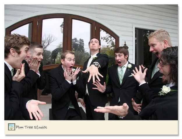 21. Some very goofy photos of the groomsmen. - Impossibly Fun Wedding Photo Ideas You'll Want To Steal