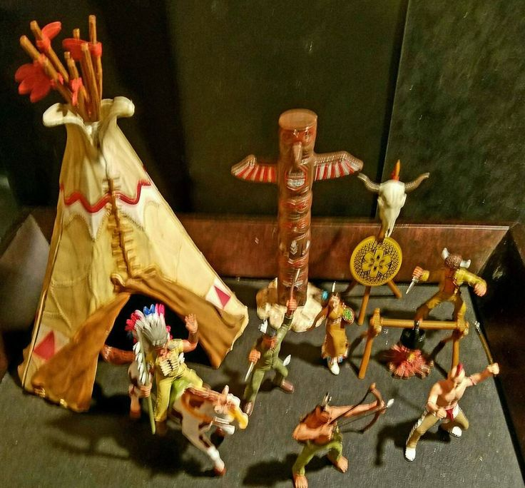Simba Schleich Papo Wild West Indian Village Tipi Chief