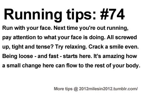 Running Tips: Tell it to your face. Starting running or training for a marathon? Tips and help: Get more running tips and training adivce… #RunningTip , #Junior10K, #Running, Follow us on FB - https://www.facebook.com/JUNIOR10K