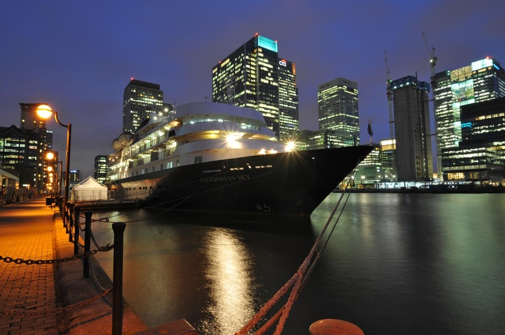 Cruise Ship  The MS Caledonian Sky birthed in Canary Wharf just last week! This fantastic picture was taken one of our wonderful expedition staff members - Kristine Hannon.