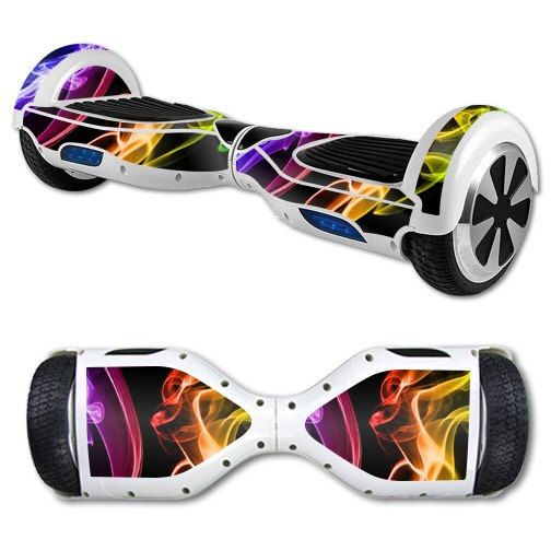 Rainbow Flames Skin Decal Wrap for Self Balancing Scooter