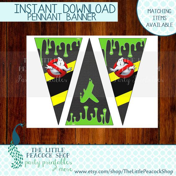 Ghostbusters Happy Birthday printable and by TheLittlePeacockShop