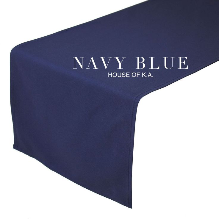 14 X 108 Inches Navy Blue Table Runner | Navy Blue Table Runners For  Weddings,