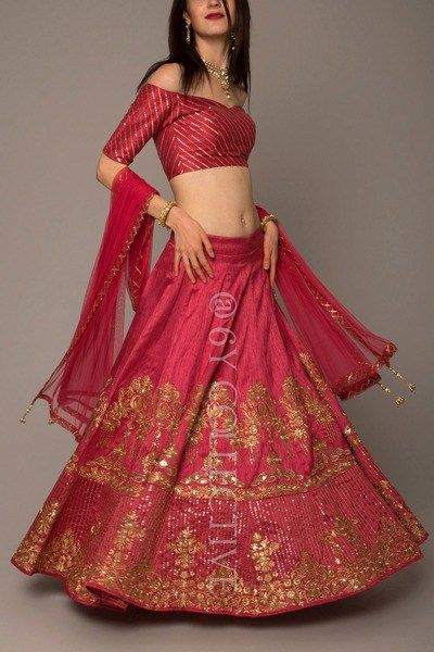 Looking for some wedding resort wear outfits on a budget? Check out these gorgeous 6YCollective 10k Lehengas Resort Wedding that are perfect for a 2018 wedding.