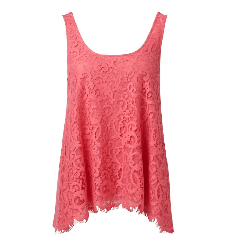 Emmaline Lace Front Swing Tank - Forever New