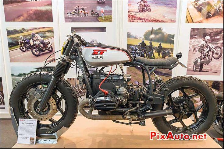 La Parisienne, prepa Blitz-Motorcycles, stand cafe-Racer, salon-de-la-moto Paris