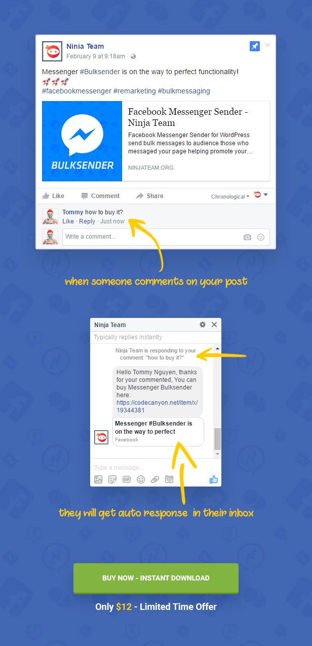 #Messenger Auto-Reply works just like this. Simple & easy to use.