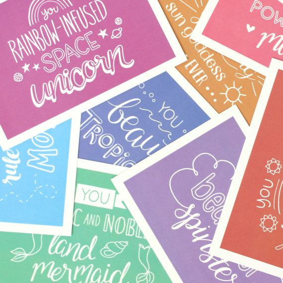 Galentine's Gifts: Galentine's Day postcards from The Tall Tree Shop on Etsy