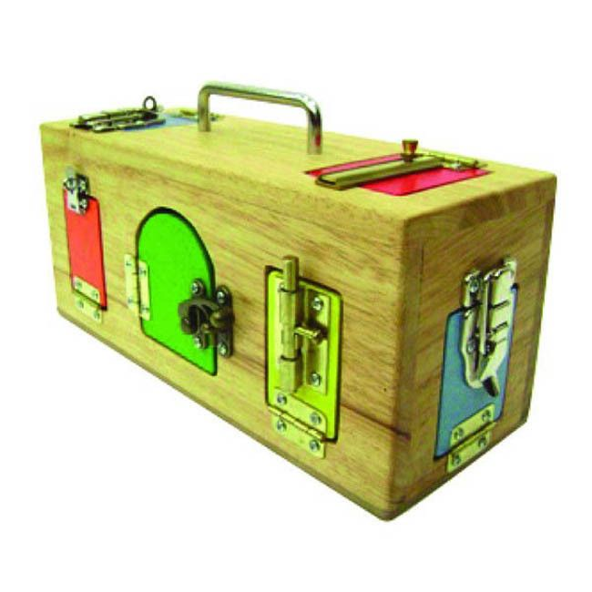 A favourite toy for little curious minds. With three compartments and a variety of locks this will be well loved!! Great gift for young kids.