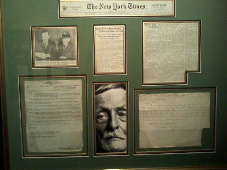 Albert Fish letters and newspaper clippings at the Crime & Punishment Museum in Washington DC.