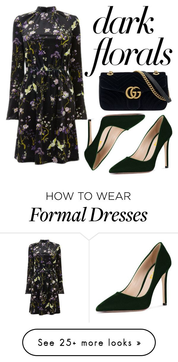 """Dark florals"" by gamboanoeli on Polyvore featuring Warehouse and Gucci"