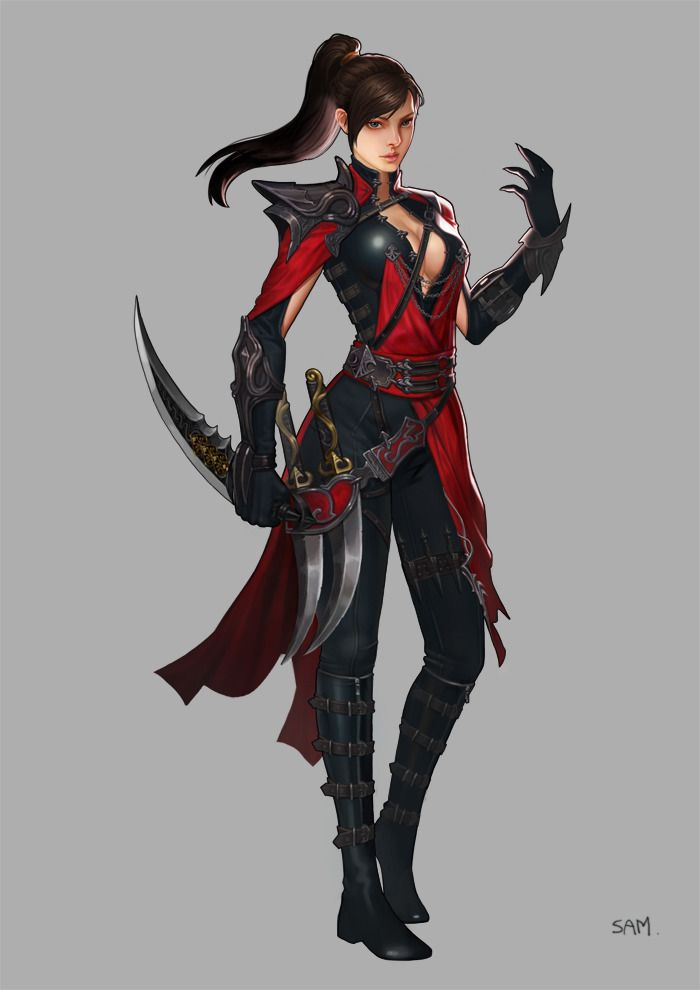 assassin by hongsam I'd add a layer underneath to make it more modest but otherwise an interesting idea for Ari perhaps