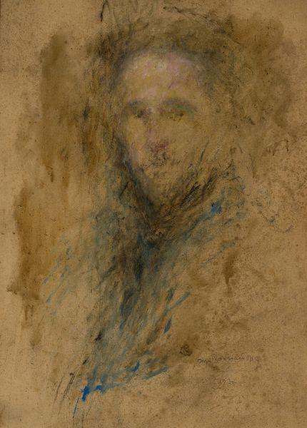 Szkicowy portret męski - Olga Boznańska