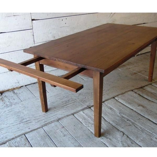 Farmhouse Table With Extensions Breadboard Extension Detail In