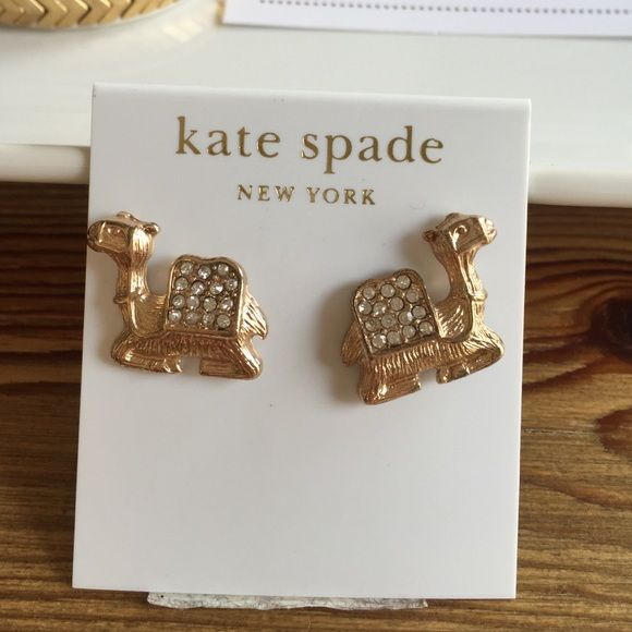 Kate Spade Gold Camel Earrings  Perfect condition! kate spade Jewelry Earrings