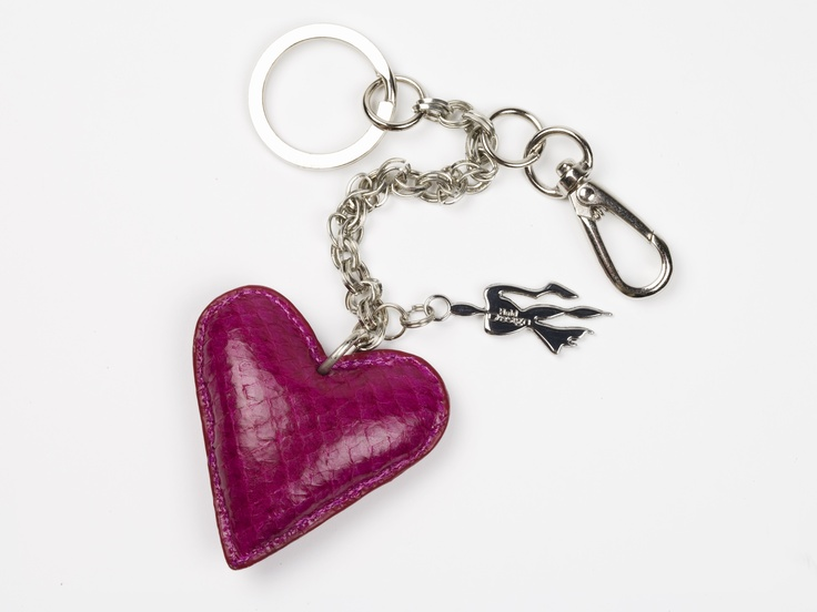 #keyring made of fish leather (salmon) | Design by Huld