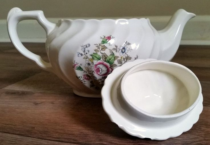 Vintage+Teapot+Sewing+Caddy+With+Hidden+Pincushion