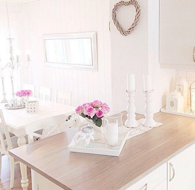 Wohnungseinrichtung, Renovierung, Landhausstil, Traumhaus, Dekorieren,  Esszimmer, Wohnzimmer, Rosa Küchen, Innenarchitektur