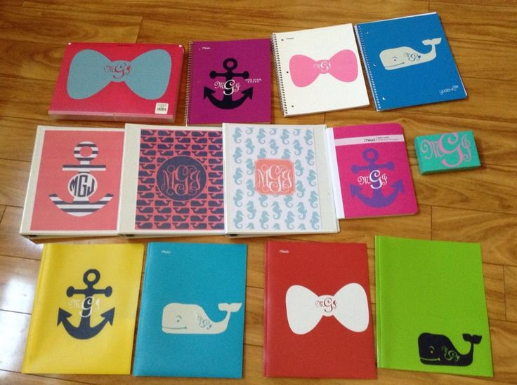Today I spent some time using my cricut explore to monogram back-to-school supplies! It was so easy, and I was very happy with the results. 1. Download the images that you want to put on your schoo...