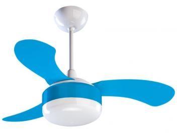 Ventilador de Teto Ventisol Petit 3 pás - 3 Velocidades Azul