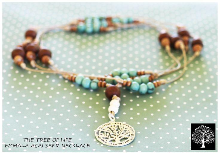 Baby blue Boho necklace