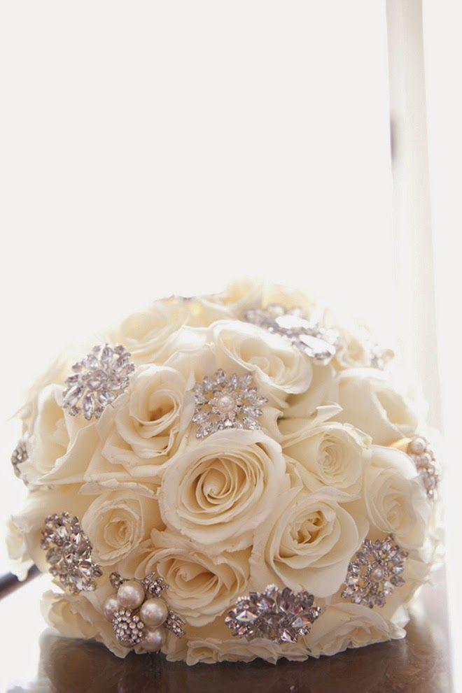 white roses and bling ~ Dawn Joseph Photography | bellethemagazine.com