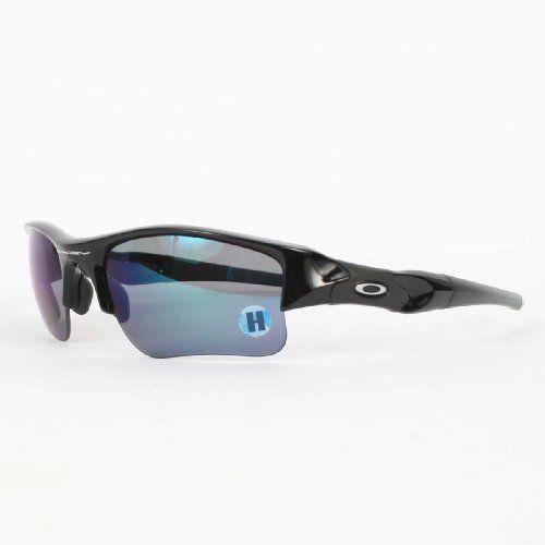 Oakley - Mens Flak Jacket XLJ Polished Black w/ Deep Blue Polarized  Sunglasses Oakley.