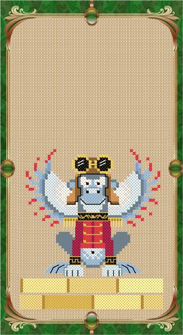 """A flying monkey cross stitch chart by Brooke Nolan of Brooke's Books Publishing from """"The Wonderful Wizard of Oz"""". Available for instant download at our Craftsy Store: http://www.craftsy.com/user/1333992/pattern-store?_ct=fhevybu-ikrdql-fqjjuhdijehu"""