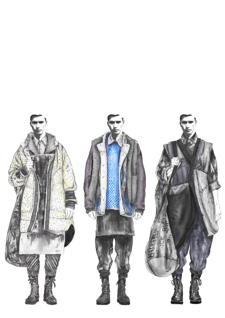 Fashion Portfolio - fashion illustrations; lineup; fashion sketchbook // Georgia Mottershead