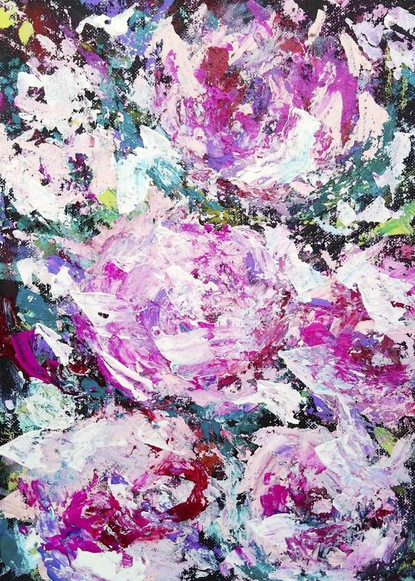 Abstract peonies