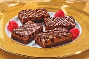 Chocolate Truffle Mousse Bars (use gluten free (use gluten free flour blend) I don't think you would need xanthan gum, since it's only 2 T of flour)