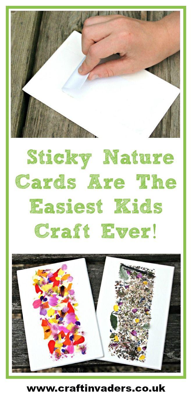 How to make sticky nature cards best kids craft ever diy kids