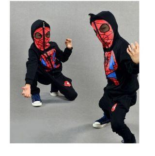 男の子のためのキッズパーカーとパンツスーツのためのクールなスウェットスパイダーマンの衣装