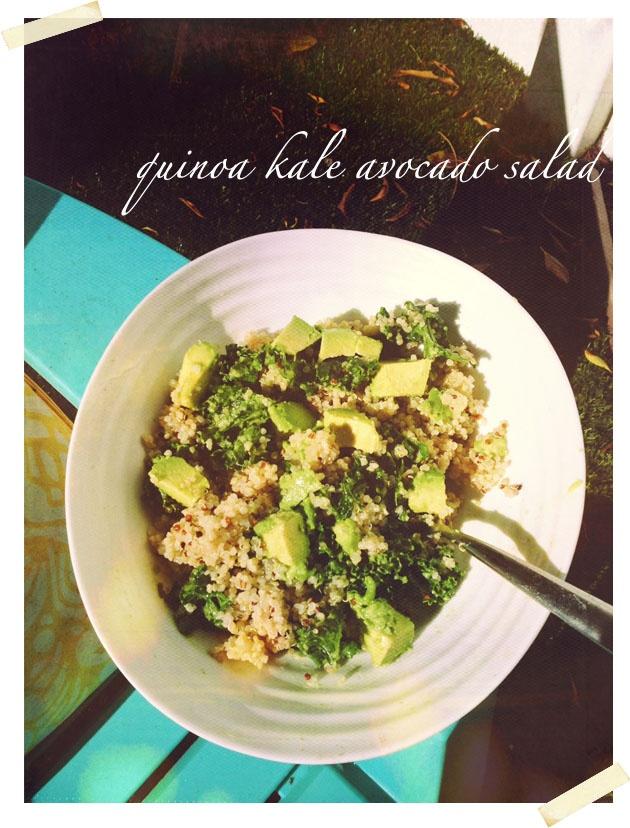 The Mermaid Chronicles: Quinoa Kale Avocado Salad