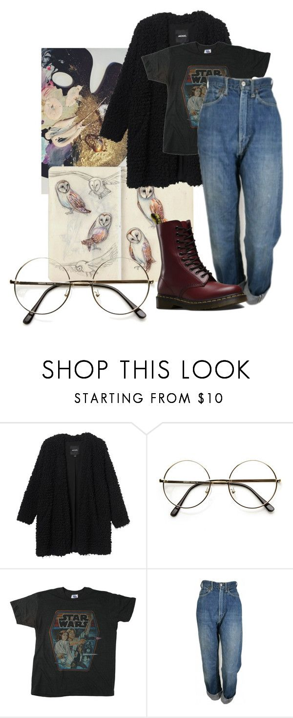 """""""Geen titel #433"""" by robin-jose ❤ liked on Polyvore featuring Monki, Junk Food Clothing, Levi's and Dr. Martens"""