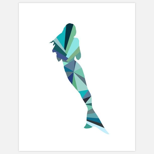 Mermaid print 11x14