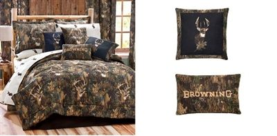 BROWNING Camo Deer 10 Pc QUEEN SIZE Comforter Set - (HUGE SAVINGS ON COMBO SETS!) - Visit our website at www.crystalcreekdecor.com for more sizes and selections on Home Decor at great prices!