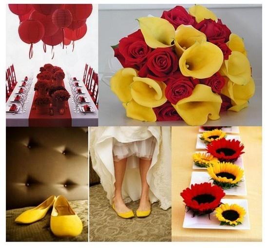 Idees Pour Un Mariage Rouge Et Jaune Red Yellow Weddingsyellow Wedding