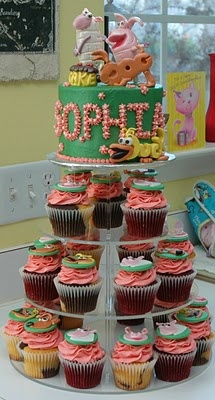 Word World cupcakes and cake