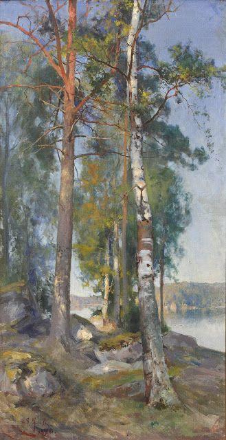 Eero Järnefelt - Sisäjärvimaisema - Inland lake scene
