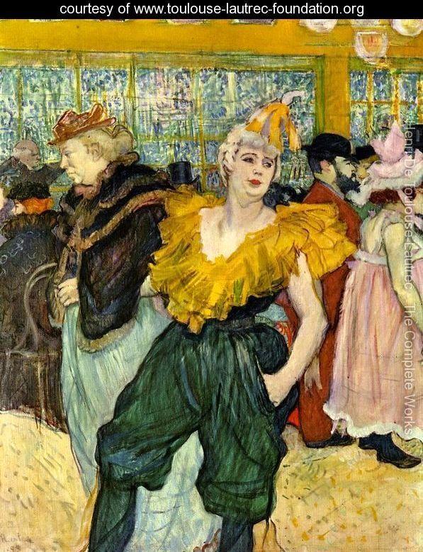At the Moulin Rouge: The Clowness Cha-U-Kao - Henri De Toulouse-Lautrec - www.toulouse-lautrec-foundation.org