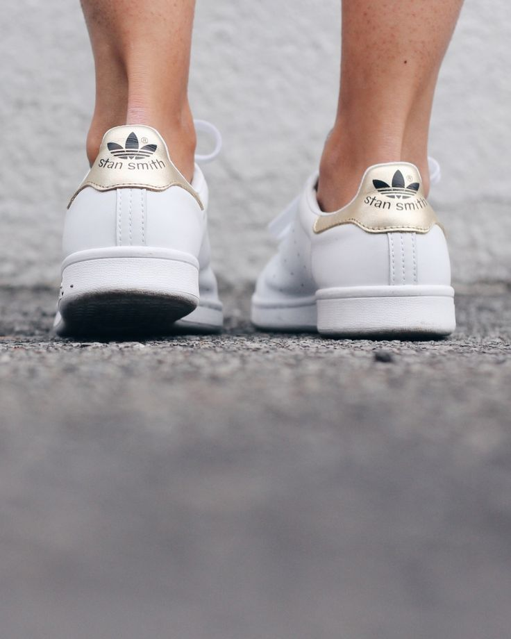 Gold Adidas stan smith | The Fashion Medley
