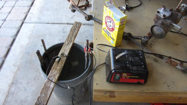 rust remover rebar bucket   De-rusting Bucket. A.k.a: Rust removal by electrolysis or the Bucket ...