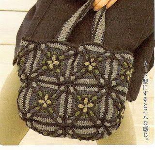 Tina's handicraft : crochet bag with motif square