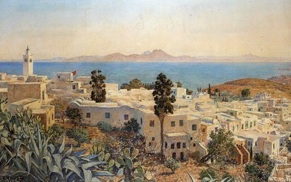 Vue de Sidi-Boût-Saïd von Alexandre Roubtzoff